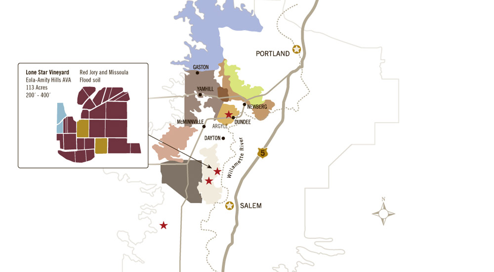 Lone Star Vineyard Map