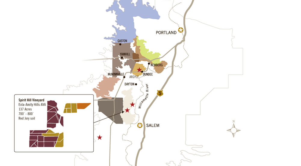 Spirit Hill Vineyard Map